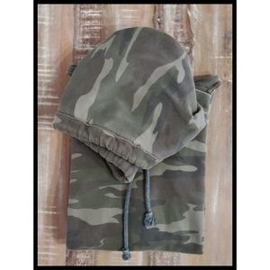 American Eagle Camo Hoodie Pullover Sweatshirt  S
